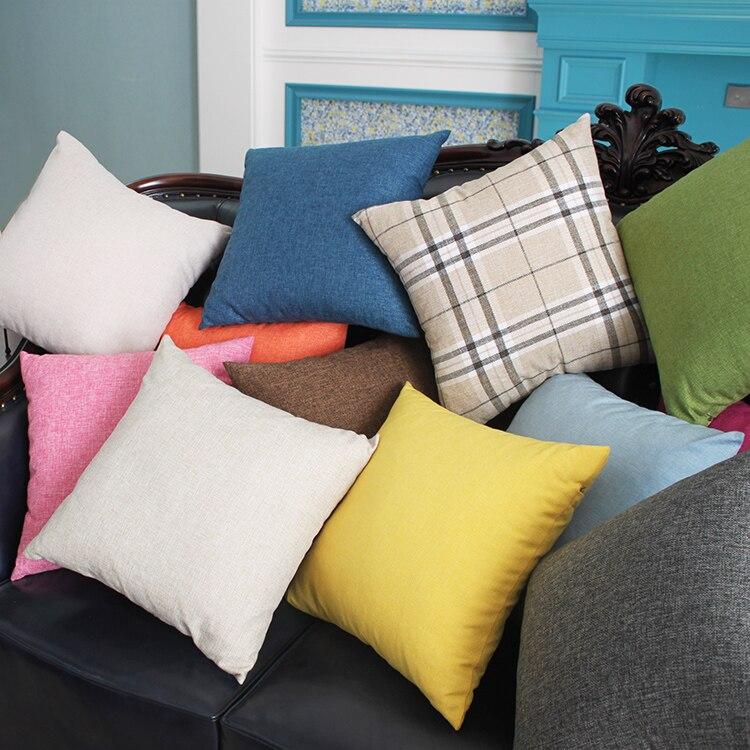 Pillow Cushion for Couch Linen Pillow With Inside Cushion Chiar Car Seat Pillow Insert Foam Cushion Sofa & Bed Home Decor