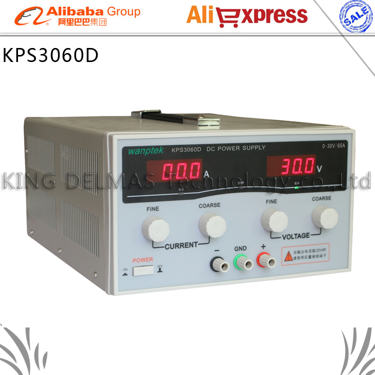 KPS3060D High precision High Power Adjustable LED Display Switching DC power supply 220V 0-30V/0-60A For Laboratory and teaching kuaiqu high precision adjustable digital dc power supply 60v 5a for for mobile phone repair laboratory equipment maintenance