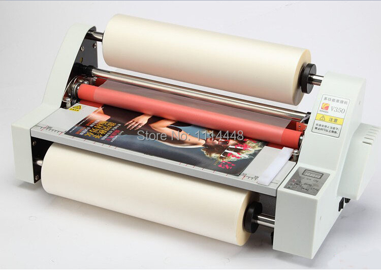 Brand New Electric 13 A3 Heated Hot & Cold Roll Laminating Machine Laminator Max. Width:350mm power driven cold laminator motor