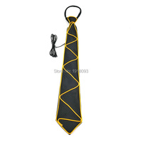 2017 Hot Fashion Stage Props EL Wire Glow Necktie For New Years Day Decoration Holiday Party Supplies with Voice Controller