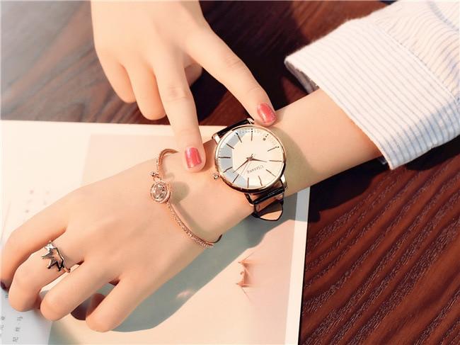 Polygonal dial design women watches luxury fashion dress quartz watch ulzzang popular brand white ladies leather wristwatch 10