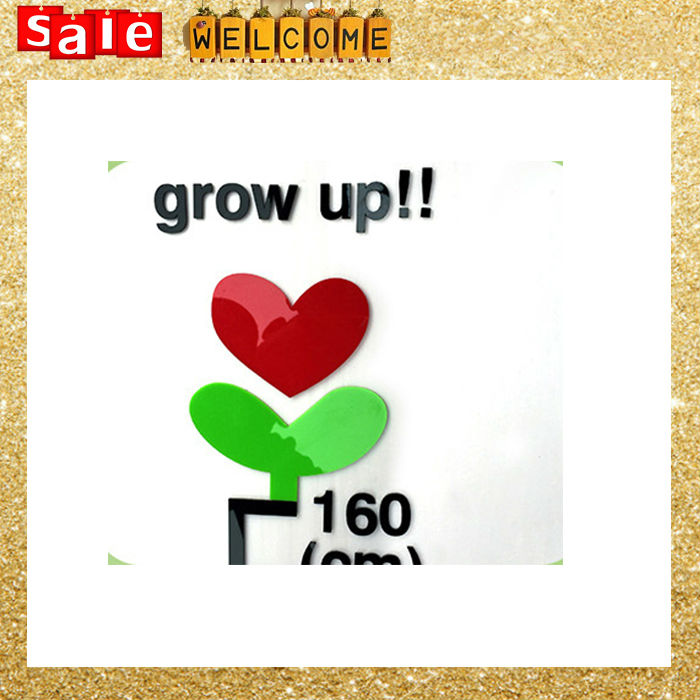 Acrylic Number Measure Height Growth Chart Boy Girl\'s Wall Sticker ...