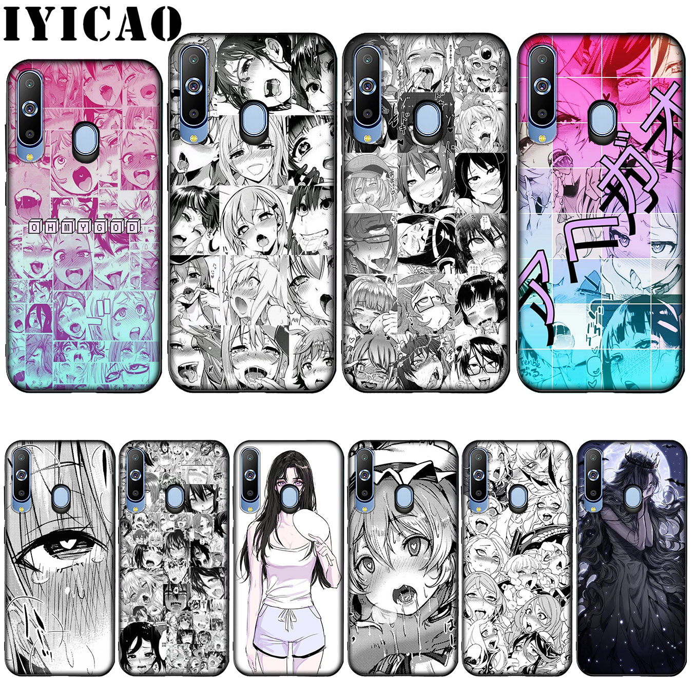 IYICAO Anime girl cartoon japan Silicone Soft Case for Samsung Galaxy A10 A30 A40 A50 A70 M10 M20 M30 Cover image
