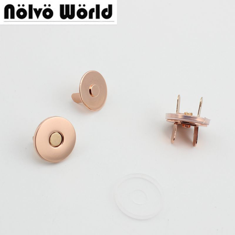10sets 50sets 18*2mm Hung Plating Dish Shape Magnetic Snap Button Clasp Fastener For Handbag Purse Wallet Wholesale