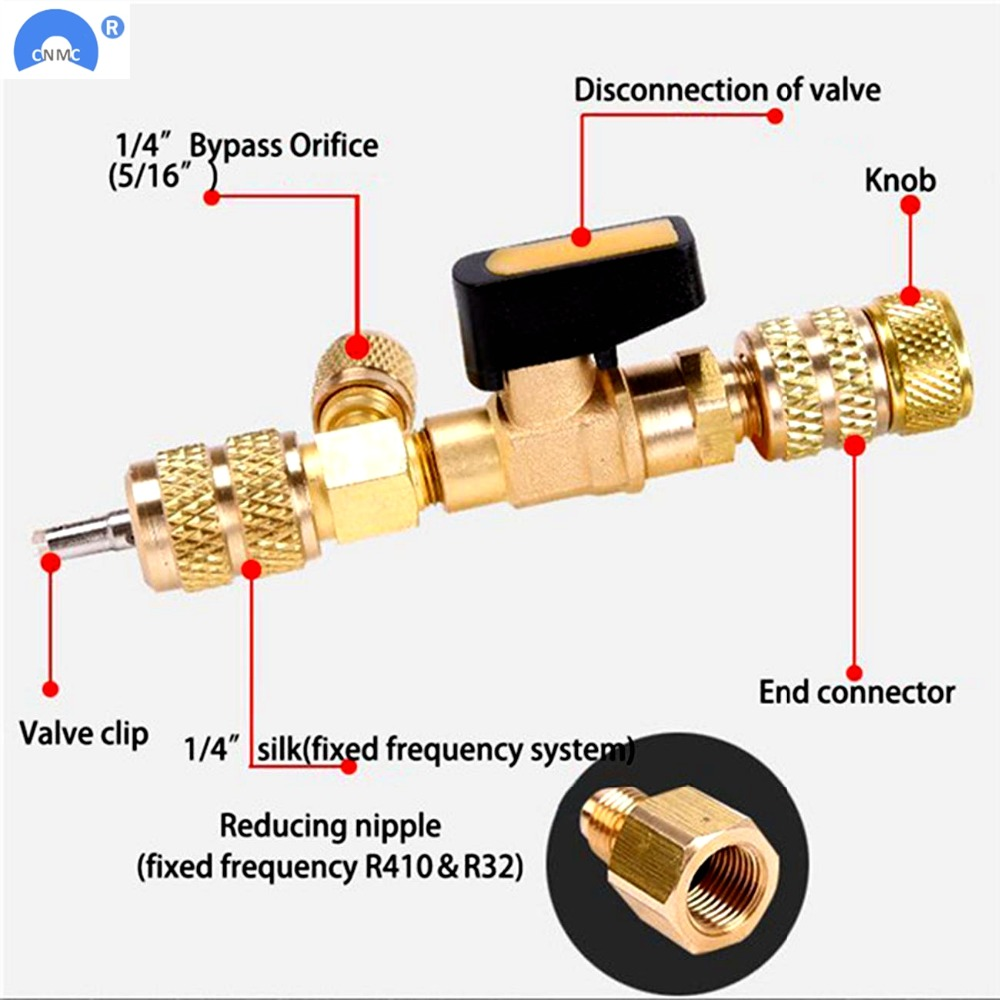 """HVAC AC Schrader Valve Core Remover Dual Size 1//4/"""" and 5//16/"""" Port Installer Tool"""