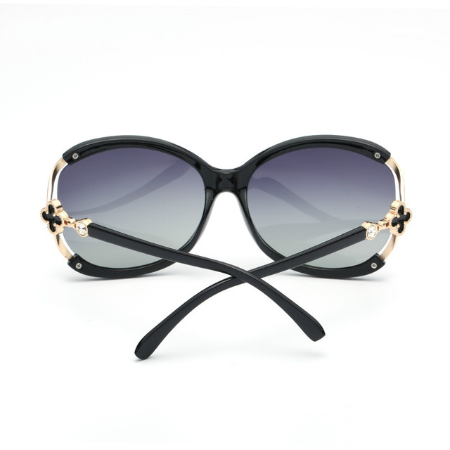 ladies Fashion Polarized Sunglasses Women Luxury Brand Designer Vintage Sun glasses Female Flower Oversized Shades Eyewear UV400 3