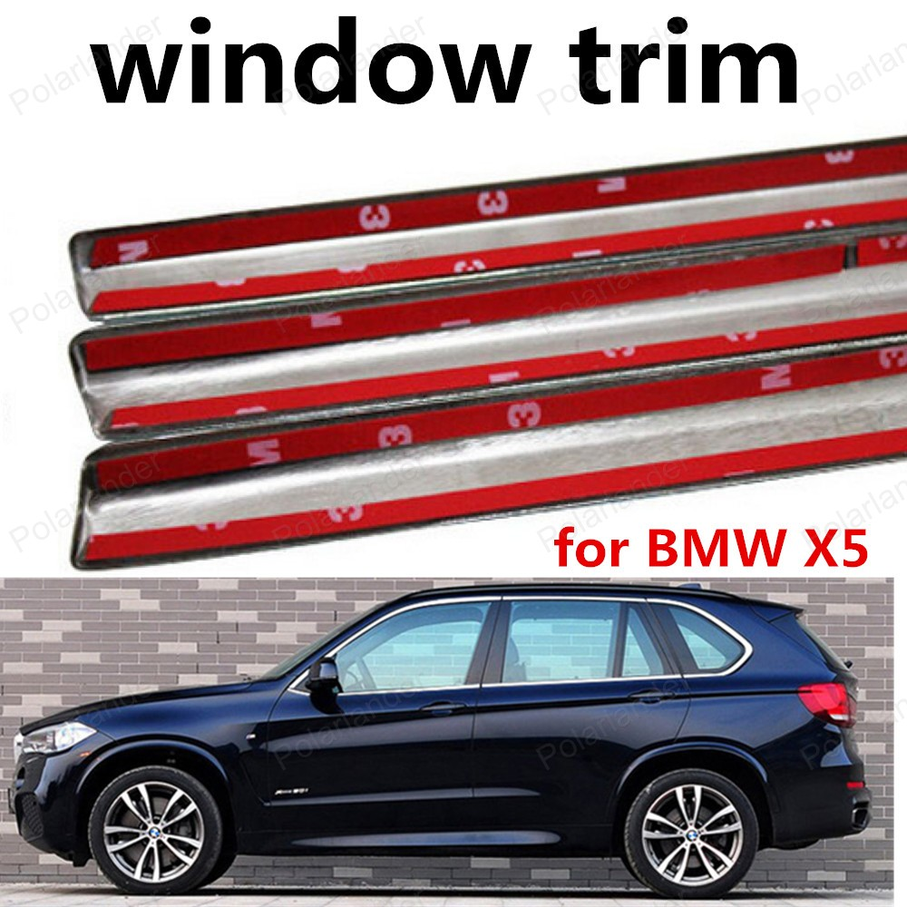 wholesale Car Styling Window Trim Decoration Strips without column For BMW X5 Stainless Steel Car Accessories|Chromium Styling|Automobiles & Motorcycles - title=