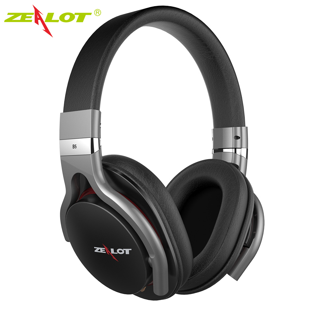 ZEALOT B5 Wireless Stereo Earphone Headphones with Mic Bluetooth4.0 Headset Over Ear Headphone with Micro-SD Slot high quality zealot b5 bluetooth wireless headphones foldable tf card over ear hd headphone headsets with mic