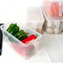 Transparent PP Storage Box Kitchen Refrigerator Boxes Grains Beans Contain Sealed Home Organizer