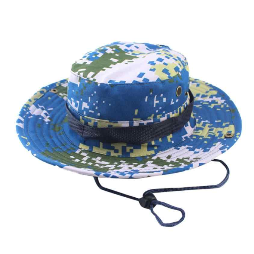 Detail Feedback Questions about 2018 New Mens Adjustable Cap Camouflage Boonie  Hats Fisherman Hat Sun Protection Hat Cap Dropshipping Jun 5 on ... 41e824224552