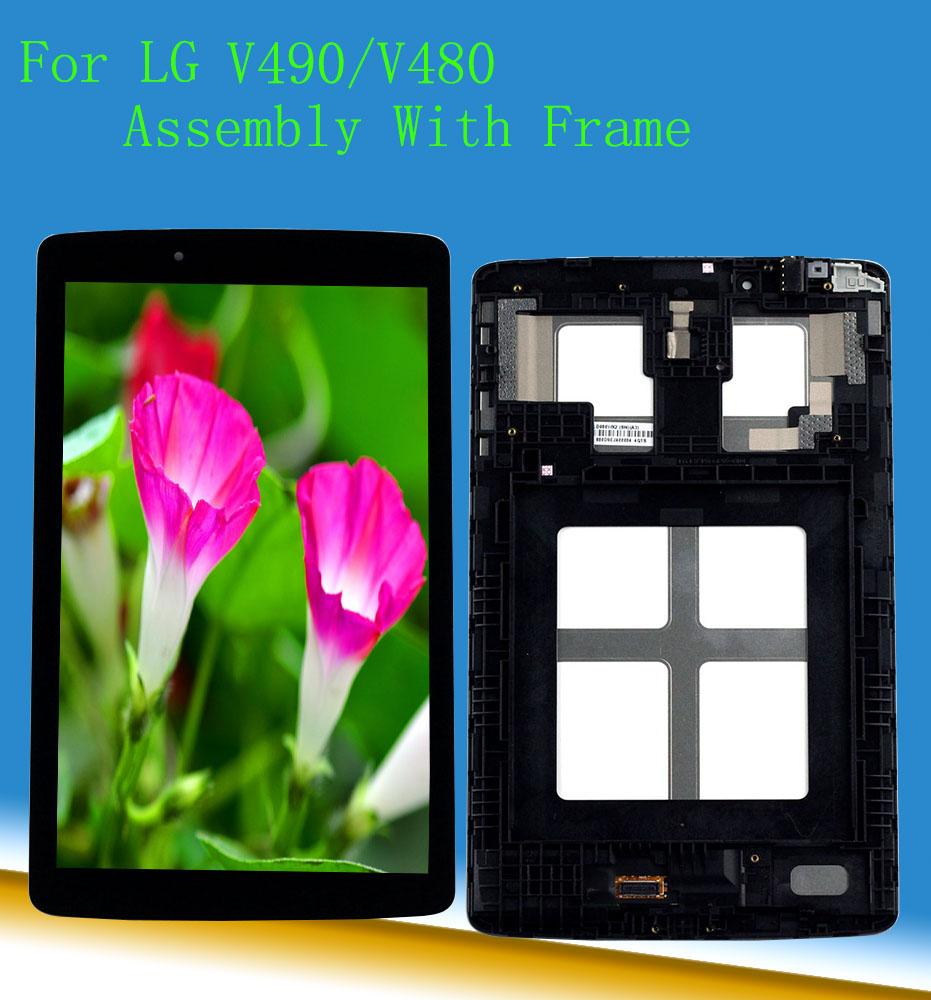 For LG G Pad 8.0 V480 V490 LCD Digitizer Display Touch Screen Panel Replacement