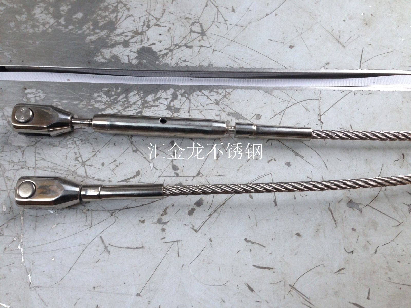 304 Stainless Steel Tension Rod For Glass Curtain Wall Canopy Steel Cable