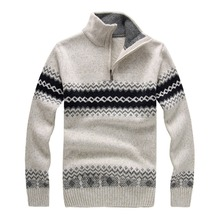 Winter Thick Christmas Sweater Men fashion Brand 4 Colors Pullovers