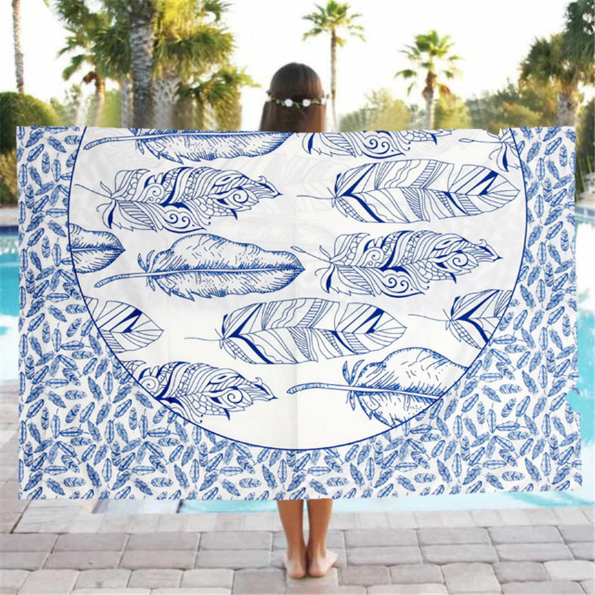 Happy Sales Beach Pool Home Shower Towel Blanket Table Cloth Yoga Mat Oct1013