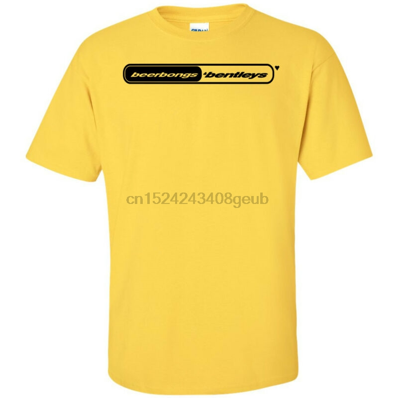 US $11 99 |Post Malone Beerbongs and Bentleys Black Logo T Shirt Stoney b&B  Merch Stoney-in T-Shirts from Men's Clothing on Aliexpress com | Alibaba