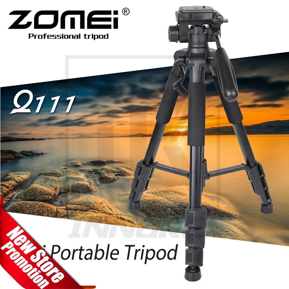 ZOMEI Q111 Professionnel Portable Voyage En Aluminium Caméra Trépied Pan Tête pour REFLEX DSLR Appareil Photo Numérique Trois couleurs disponibles
