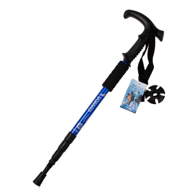 Adjustable Canes Walking stick font b Hiking b font Walking Trekking Trail Poles Ultralight 4 section