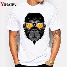 Men T-Shirt 3D Print Stylish Orangutan Graphic Short Sleeve Funny Animal T Shirts Hip Hop Monkey Printed Tee Shirts stylish monkey king printed t shirt and pencil pants twinset for women