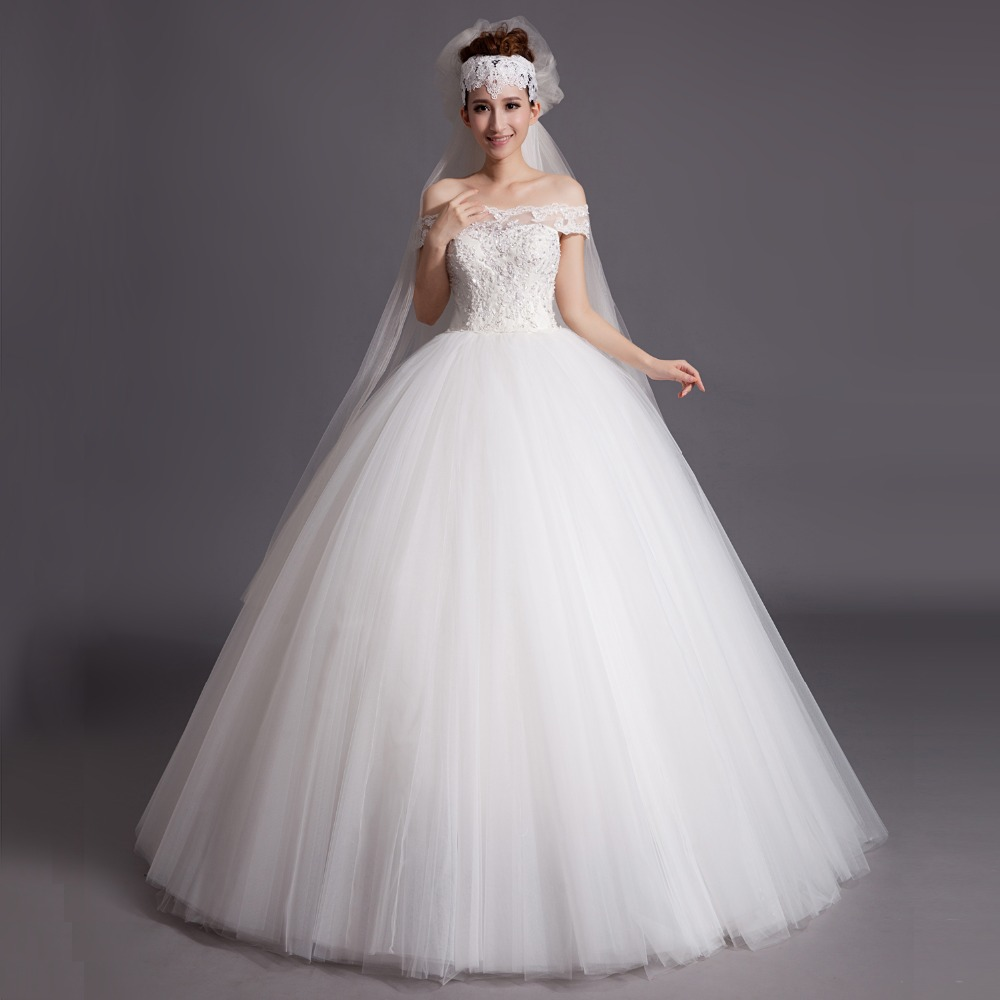 Compare Prices on Ball Gown Wedding Dress White- Online Shopping ...