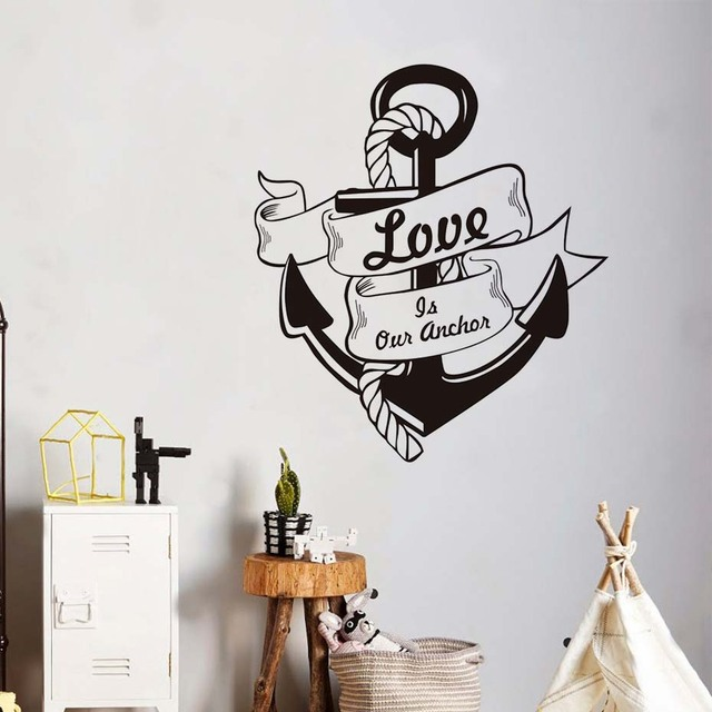 Liefde Is Onze Anker Quote Muurstickers Tekst Interieur Vinyl ...