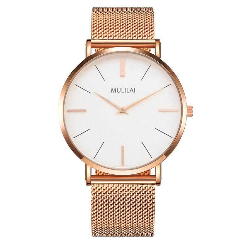 40mm dial Luxury Brand Men Steel Quartz Watch's fashion Simple Rose gold men's dw watch style Bracelet Leather Business Watchse