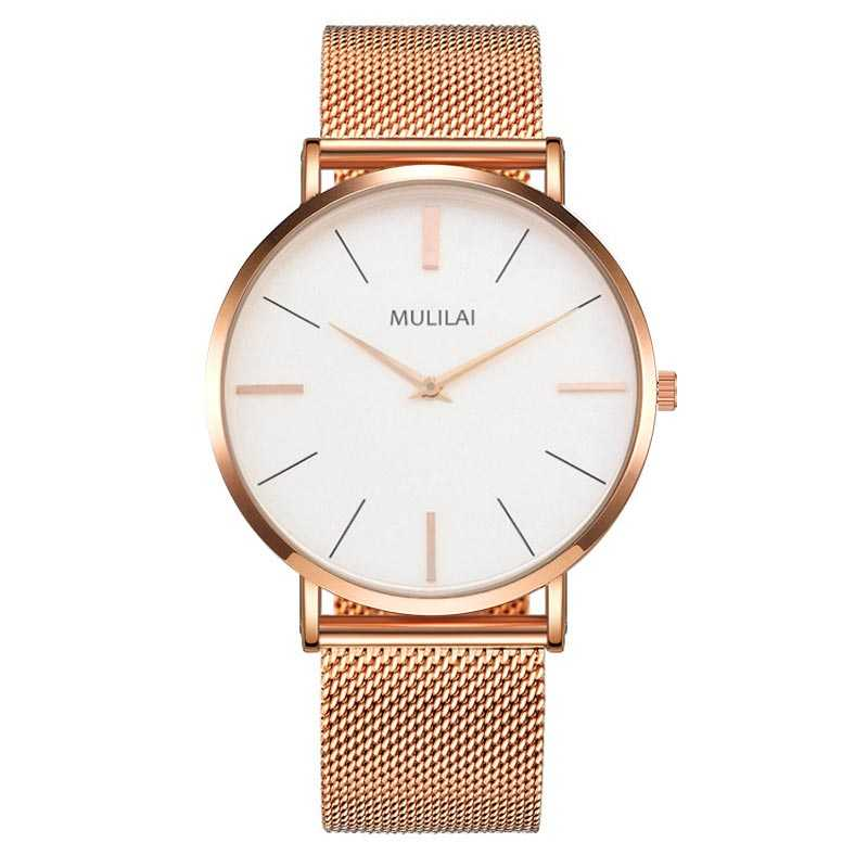 цена MULILAI Brand man watch Hot Famous Casual Quartz Watch Men Metal Mesh Stainless Steel Watches dw style Business Leather watches онлайн в 2017 году
