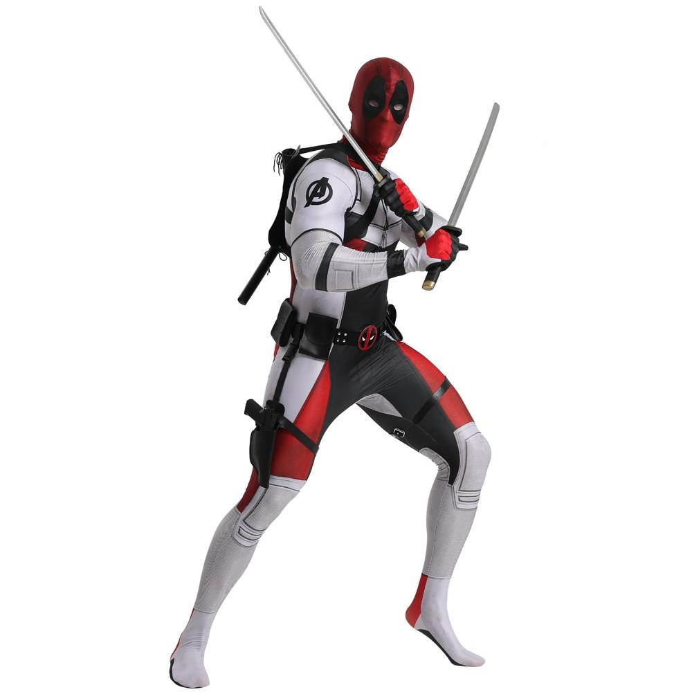 New The Avengers Marvel Superhero Deadpool Cosplay Costumes Wade Winston Wilson Childs Adult Tights Jumpsuits Halloween Zentai