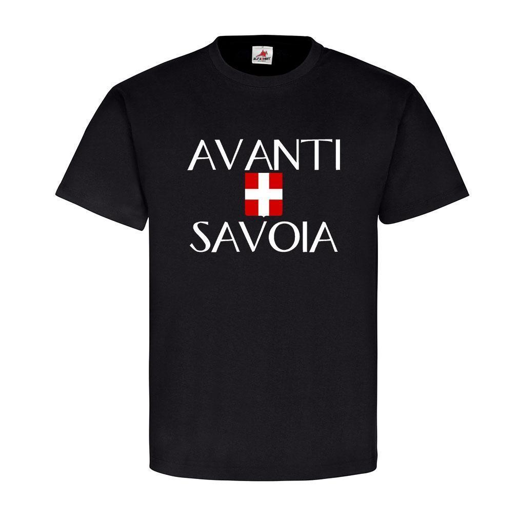 Avanti Savoia Italien Schlachtruf Wappen Abzeichen Haus Savoyen T-Shirt #19358