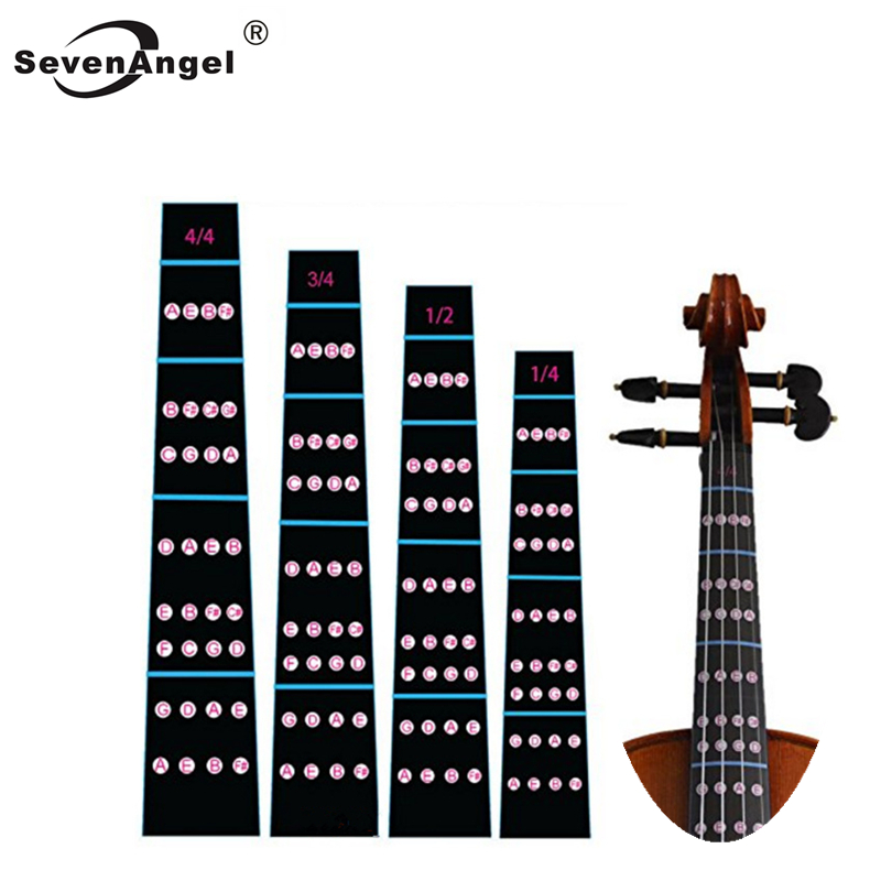Nuevo 1Pcs 4//4 Scale Violin Fiddle Fingerboard Finger Guide Guide Label Stickers Note Chart Black