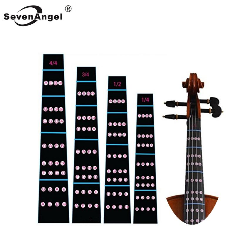 4/4 3/4 1/2 1/4Violin Fingerboard Sticker Fretboard Note Label Fingering Chart Practice Guide Beginner Violino Parts Accessories