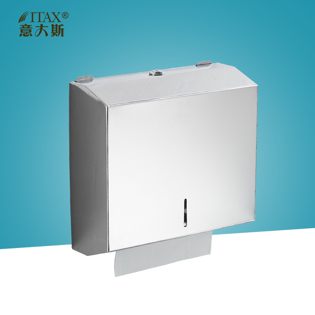 itas3326 304stainless steel holder box manual hand paper towel dispenser tissue wipe rack cup machine folding - Paper Towel Dispenser