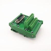 DIN schiene montierbar D SUB DB15 Männlichen Header Breakout Board  Terminal Block  Stecker.-in Klemmleisten aus Heimwerkerbedarf bei