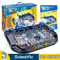 100 Multi Experiments Electrical Science Sets Flying Fan Radio LED Light Bell Ball Scientific Kits Brain Physics Building Toys