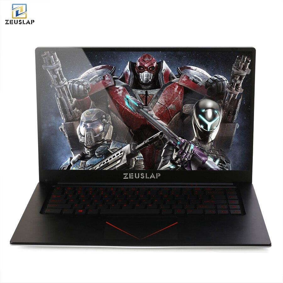 Zeuslap 15,6 дюйма 8 ГБ Оперативная память + 128 ГБ/256 ГБ/512 ГБ SSD Nvidia GT920M четырехъядерный процессор Intel CPU 1920 * 1080P IPS игровой ноутбук Тетрадь компьютер