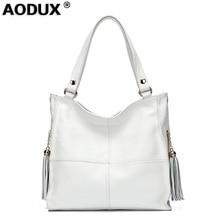 100% Genuine Leather Soft Cowhide Women s Shoulder Bags Tassels Female  Handbags Real Leather Ladies  5bddf7260204