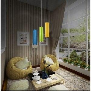 Image 2 - LukLoy подвесной светильник, кухонный остров, столовая, бар, фотолюстра 8 см, цилиндрическая трубка, подвесной светильник, алюминиевый светильник