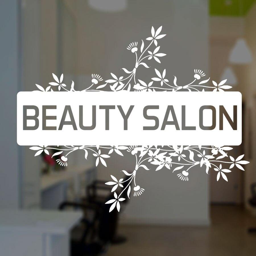 Custom Beauty Salon Decal, Shop Window Wall Vinyl Stickers Size/color Waterproof Murals DIY 3W09