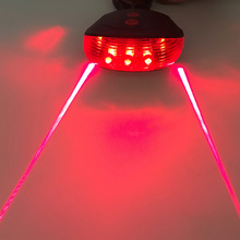 LED Bicycle Light for Night Mountain 5 LED+ 2 Laser Tail Light MTB Safety Warning