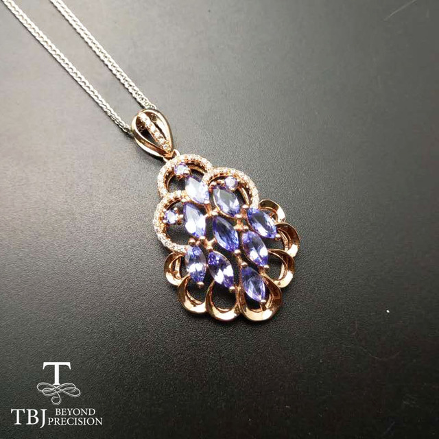 Tbj 100 natural 2ct of tanzanite pendants 925 sterling silver with tbj 100 natural 2ct of tanzanite pendants 925 sterling silver with gift box aloadofball Gallery