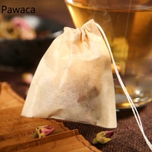 Drawstring Wood Pulp Tea Bag Puer Tea Green Tea Filter Paper Bag Disposable Making Tea Decoction Soup Seasoning Bag цена 2017