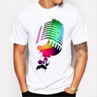 T-Shirt Ses Aktif Yanıp Sönen t-shirt Light Up Aşağı Müzik Festivali Parti Ekolayzer T-Shirt Uzun Siyah Tshirt LX113