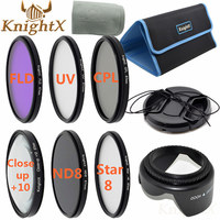 KnightX 67mm 52mm 58mm uv filtre Étoile nd croix CPL close up lens Kit pour nikon d800 d5200 canon 5d mark 70d t3i 650d 6d aller pro