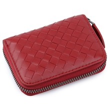 New Arrivals Premium 100% Sheep Skin Knitting Card Wallet Guaranteed 2019 Brand Genuine Leather Holder Coin Purses