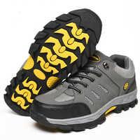 Mode hommes chaussures de travail de sécurité orteil en acier respirant bottes de travail randonnée escalade Anti-piercing et anti-piercing chaussures