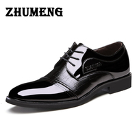 2016 Luxurious Technology Man Business Affairs Dress Leather Male Single Shoe Flats Hot Sale Wedding Formal