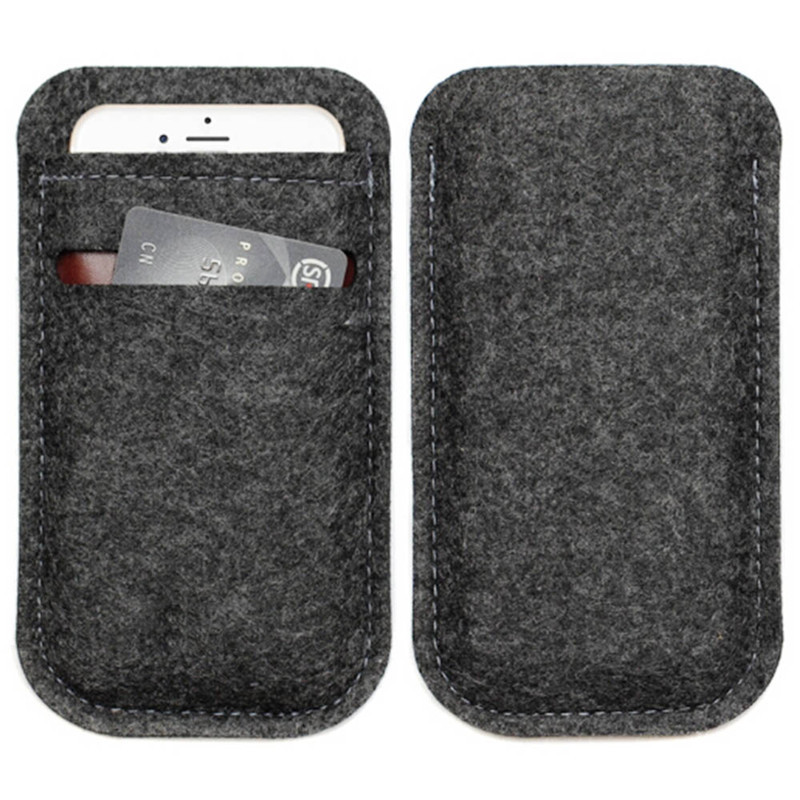 Universal Wool Felt Wallet Phone Bag Case Pouch For 4 7 Inch Mobile Iphone 5 6 S 8 Samsung Htc Sony Cover In Cases From