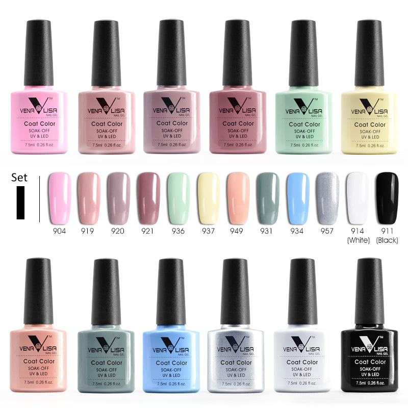 Newest enamel nail gel polish Venalisa 60 color nail art DIY manicure uv led gel polish gel nail lacquer varnish nail polish gel simd 196 colors nail gel polish primer gel nail polish led uv gel varnish base top coat nail lacquer gel polish