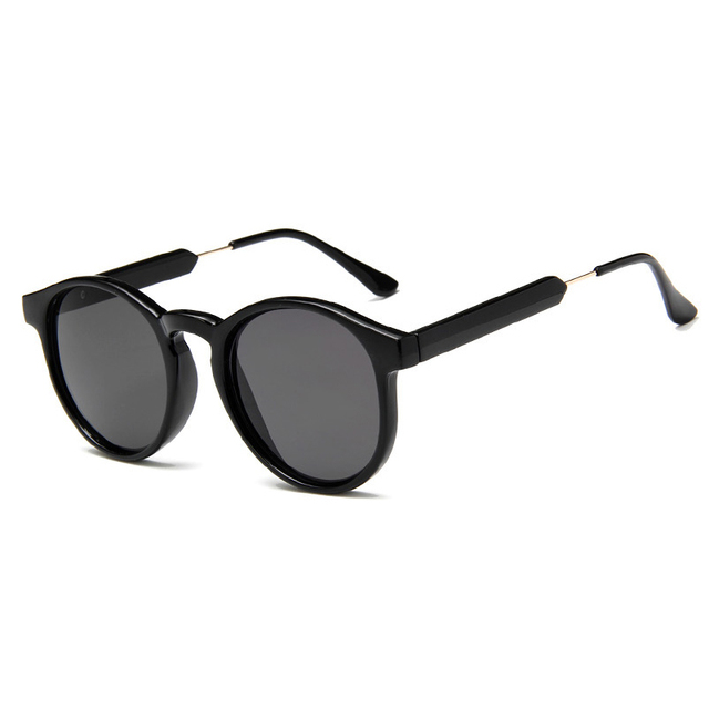 0a1a96d1d70 Women Men Sunglasses Round Eyeglasses Frame Plastic+Metal New Style Retro  Sunglass AC Lens UV400 020