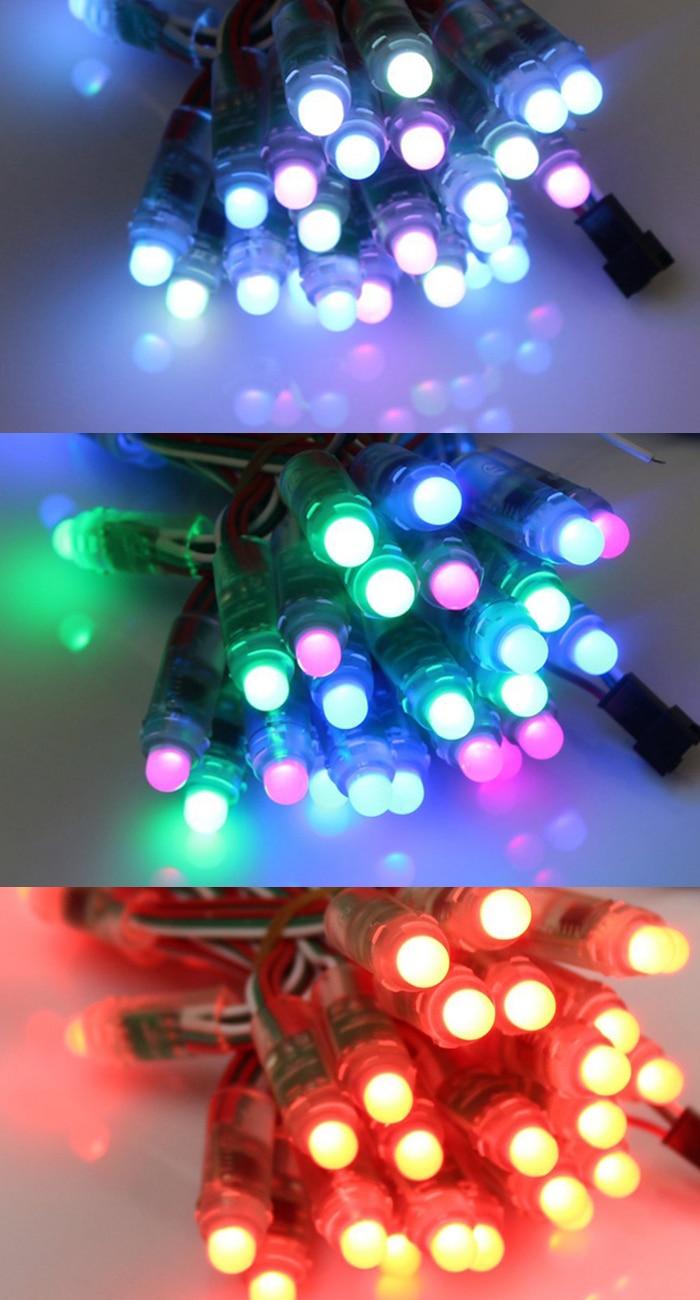 50PCS/LOT 12mm WS2811 IC DC5V Digital Full Color LED Pixel Light ...