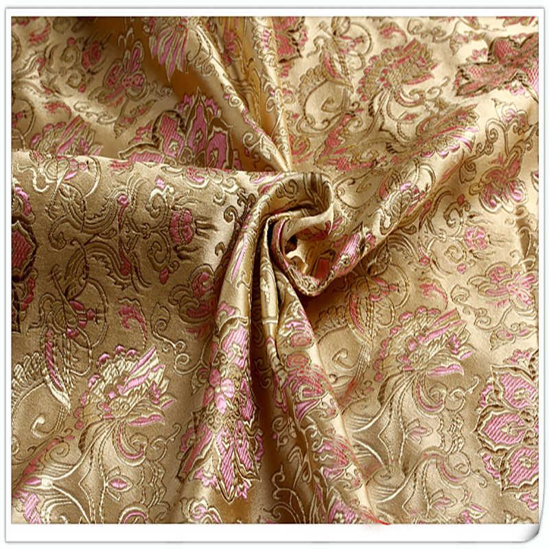 Tessuto broccato Jacquard Damascato stile Dell'america Abbigliamento Costume Tappezzeria Arredamento Tenda FAI DA TE Abbigliamento Materiale per metro